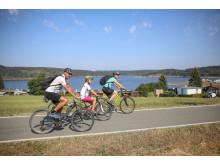 Radfahren am Thüringer Meer