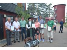 Glada representanter för föreningarna som tagit del av vindpeng för 2013