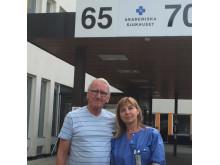 Thore Eklund, representant för Prostatacancerföreningen i Uppsala, tillsammans med Eva M Johansson, urolog och patientprocessledare prostatacancer