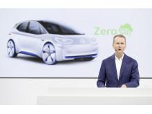 Volkswagen tar ansvar för framtidens viktiga trender – i synnerhet klimatfrågan, säger Herbert Diess, VD för Volkswagen AG.