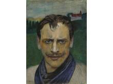 Selvportrett /Self Portrait ,Harald Sohlberg,  olje på lerret, 1896, privat eie.