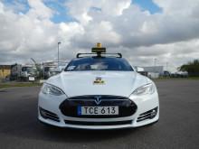 Tesla S nu i Taxi Göteborgs fordonsflotta