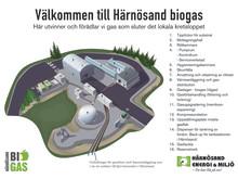 Infotavla biogasanläggningen i Äland