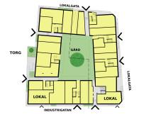 Situationsplan kvarteret Spiggan