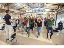 Jobbsökande på Bounce dansar loss på rekryteringsdagarna