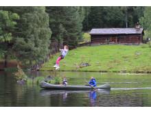 Zipline og kanopadling på Barnas sommerdag