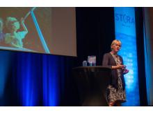 Utrikesminister Margot Wallström (S) höll ett anförande på Stora Nolia