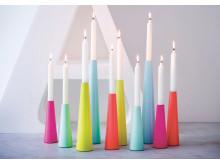 Ljusstakar i läckra färger!