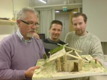 Grophusmodell och byggarna