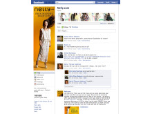 Nelly.com:s Facebook-sida