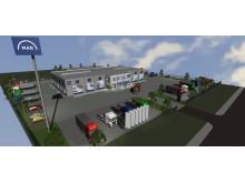 Illustrasjonsbilde MAN Truck & Bus nye verksted i Malmø