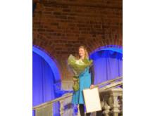Möbelsnickaren Julia Greek, mottagare av Fabrikör J.L. Eklunds Stora Hantverksstipendium.