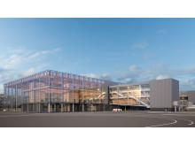 Den nya piren vid Terminal 5 på Stockholm Arlanda Airport. Källa: Nordic – Office of Architecture