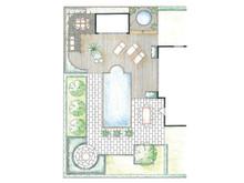 Trädgårdsarkitektens ritning