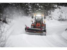Hitachi hjullastare för snöröjning