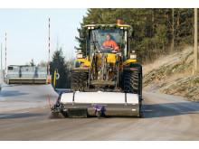Holms Dustbuster hos Ragn-Sells på Volvo L60H hjullastare