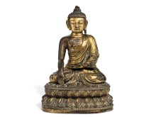 A Chinese gilt bronze figure of Buddha Shakyamuni. Hammer Price: DKK 1.8 million