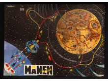 Månen tur och retur, tärningsspel av Bertil Almqvist, Aristospel 1963, Foto: ©Nordiska museet