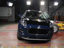 Ford Puma side impact test Dec 2019