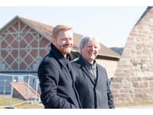 Øyvind Skjerven Larsen med nåværende festivalsjef Edvard Askeland