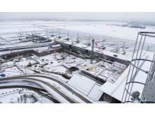 Utbygging av ny ankomst- og avgangshall januar 2013