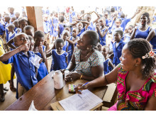 Välgörenhet i Ghana, sponsrat av GSK