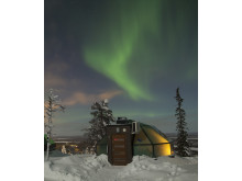 Levi Igloos with Northern Lights