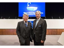 Wendelin von Boch (à gauche) et Yves Elsen (à droite) à l'assemblée générale de Villeroy & Boch AG