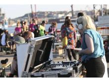Aktiviteter i Frihamnen 2014 - Invigning av Rollerderbybanan