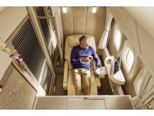 De nya förstaklasskupéerna/sviterna på Emirates Boeing 777 har mycket gemensamt med interiören i Mercedes S-Klass.