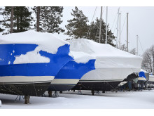 High res image - Sika - Snow on boats