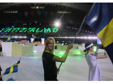 Jessika Eriksson fanbärare Team Sweden Universiaden Gwangju 2015