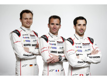 Le Mans 2016, Porsche Team, Marc Lieb, Romain Dumas, Neel Jani (l-r)