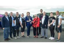 Leonard Lawson, Chair of Down Coastal Rowing Association, Roy McAllister, Chair Antrim Coast Rowing Association, WCRC members alongside the Mayor and Mr & Mrs Kelly