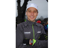 En nöjd Jonas Buud efter segern i Trail Glazig 2013