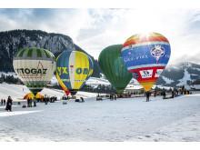 Ballonfestival in Chateau d' OEx, Genferseegebiet