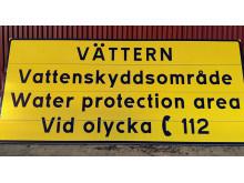 vattenskydd Vättern, skylt
