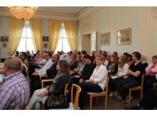 Drygt 70 personer kom till kommunens företagarträff i Gammel Tammen. Foto: Kajsa Prim