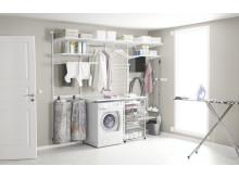 Elfa Classic och Utility för tvättstugan