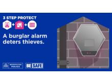 NEW 3 Step Protect-Burglar Alarm