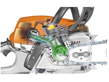 2-MIX motor med friskluftskylning