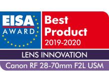 EISA Award Canon RF 28-70mm F2L USM