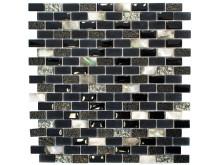 Mosaik Eventyr Den Sidste Perle Sort 30x30, 1.248 kr. M2.