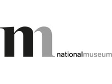 Symbol och ordvarumärke för Nationalmuseum - Sveriges konst- och designmuseum. Design Hat-trick.