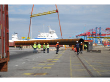 Port of Gothenburg receives ultra-long pipes