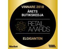 Elgiganten utsedd till Årets Butikskedja 2018