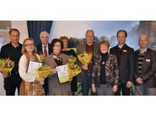 Familjen Stark tillsammans med Familjen Lovang och Katarina Gillblad