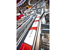 FlexLink display line integration ans high capacity line balancing solutions at Interpack and and Pack Expo