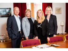 Klas Danielsson, Siv Seglem, Katarina Lidén och Marit Åstvedt