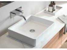 Merkur inbyggnadsblandare för tvättställ.